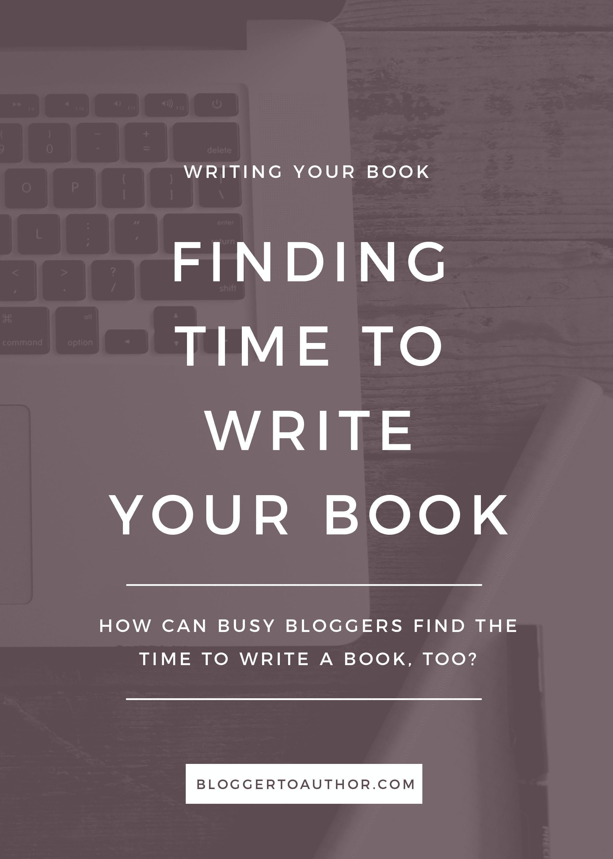 Bloggers, would you love to write a book but think you don't have time? You might be wrong.
